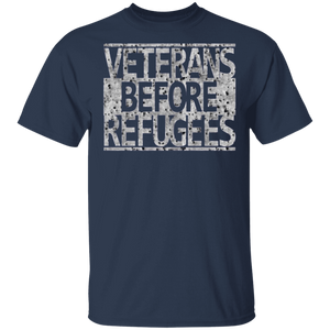 Veterans Before Refugees T-shirt - Special Edition UP - FrankyTee