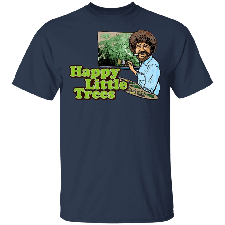 Bob Ross Happy Trees T-Shirt - FrankyTee
