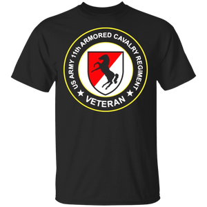 Fagraphix Men's Us Army 11th Armored Cavalry Regiment Veteran T-shirt - FrankyTee