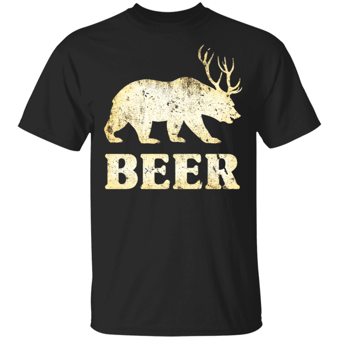 Vintage Bear Deer Beer T-shirt