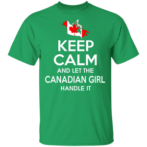 Keep Calm And Let The Canadian Girl Handle It TShirt - FrankyTee