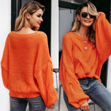 Hollow Out Mohair Women Pullover Sweater Oversize - FrankyTee