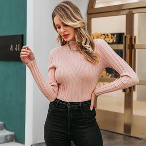 Knitted Jumper Sweater Long Sleeve Top Turtleneck - FrankyTee