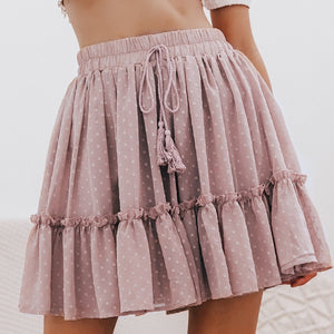 Casual Polka Dot Mini Women Skirt High Waist - FrankyTee