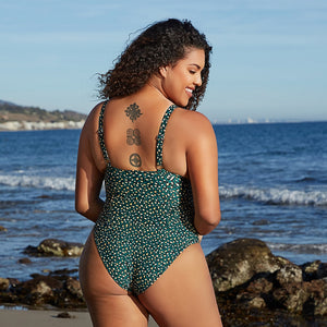 Plus Size Leopard O-Ring Underwire Monokini Sexy Large Size Beach Swimwear