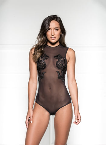 Paillard Sleeveless Bodysuit - Noir
