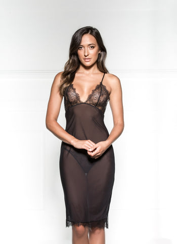 Raine Plunge Neck Bodysuit