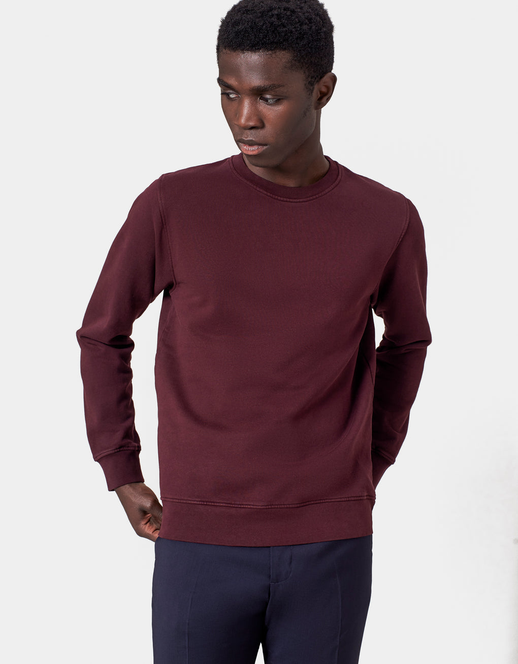 Colorful Standard Classic Organic Crew Crewneck Oxblood Red