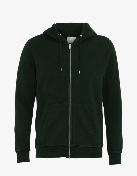 Colorful Standard Classic Organic Zip Hood Zip Hoodie Hunter Green