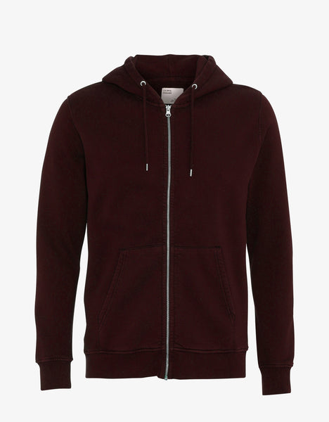 Colorful Standard Classic Organic Zip Hood Zip Hoodie Oxblood Red