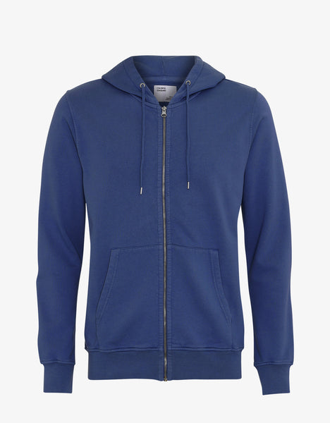 Colorful Standard Classic Organic Zip Hood Zip Hoodie Royal Blue