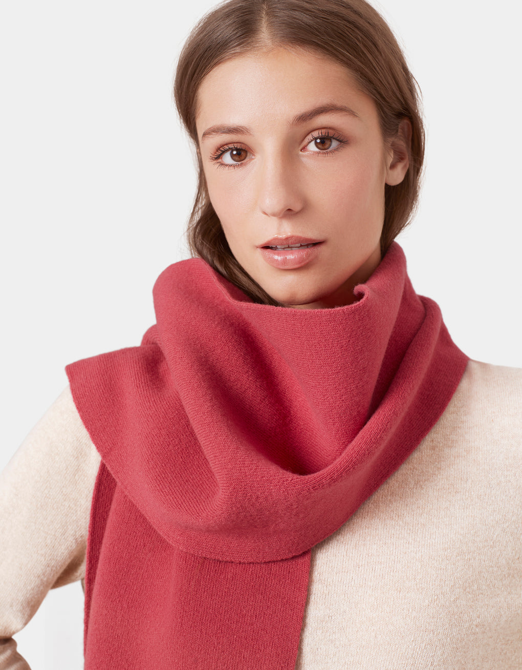 Colorful Standard Merino Wool Scarf Scarf Oxblood Red