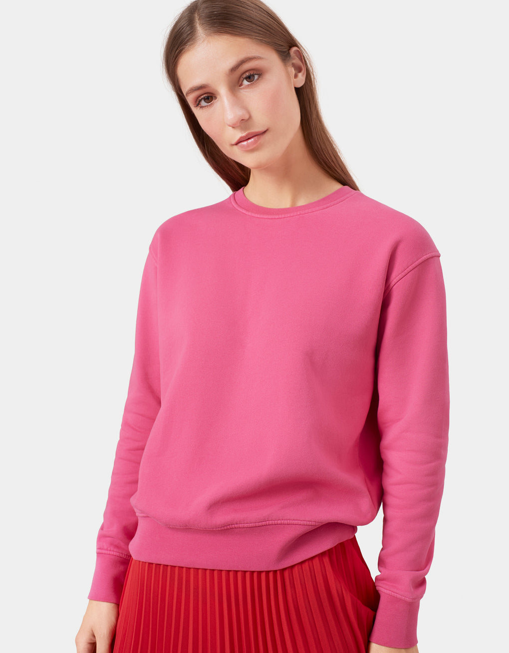 Colorful Standard Women Classic Organic Crew Women Crewneck Lemon Yellow