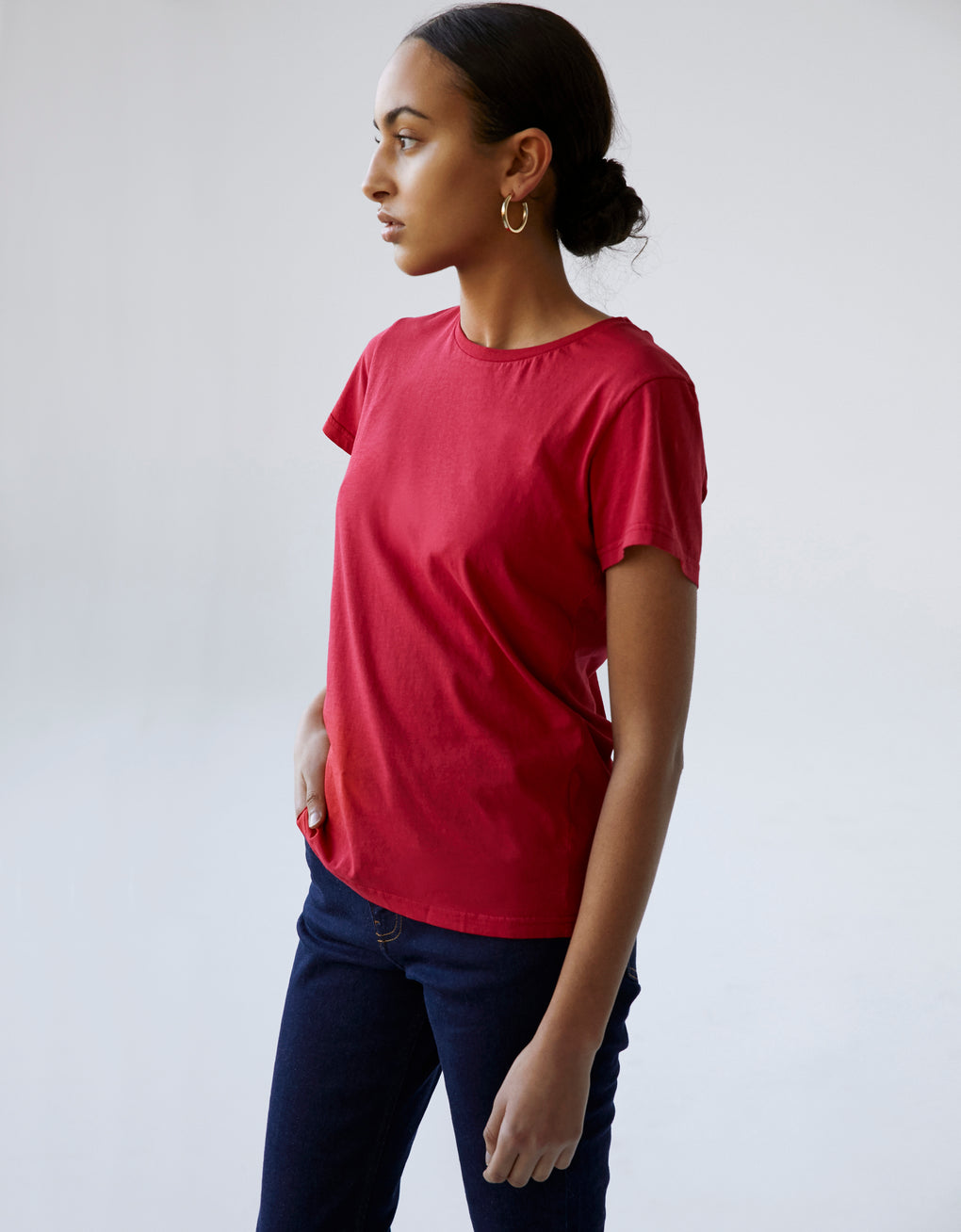 Colorful Standard Women Light Organic Tee Women T-shirt Navy Blue