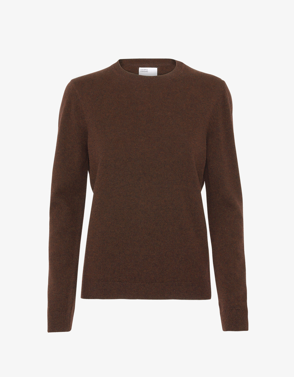 Colorful Standard Women Merino Wool Crew Women Merino Crewneck Coffee Brown