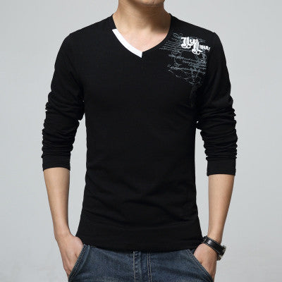 Casual V-Neck Long Sleeve Tee