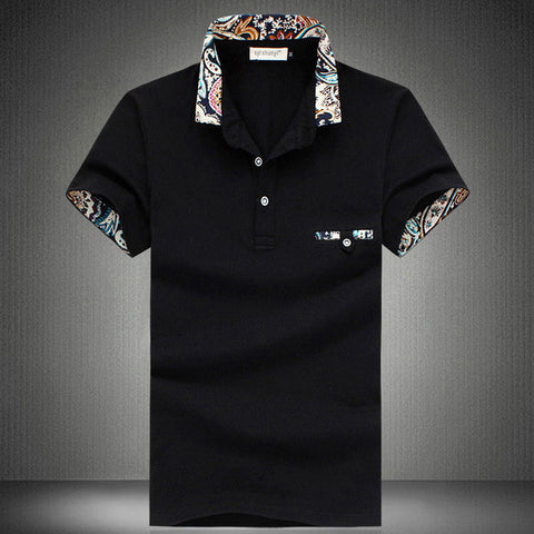 Decor Print Polo Tee