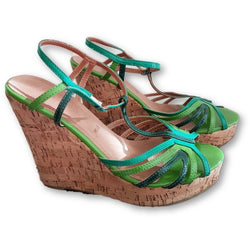 Pelle Wedge Sandals - Shoe Bank