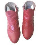 Coupleof Red Ankle Boots - Shoe Bank