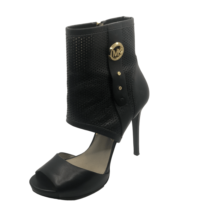 Michael Kors Open Toe Black Booties
