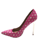 Alba pink metallic pumps