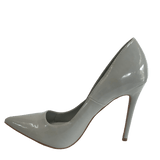 Grey patent Pumps