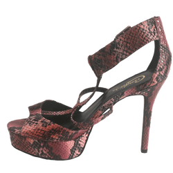 Candie's red snakeskin platforms