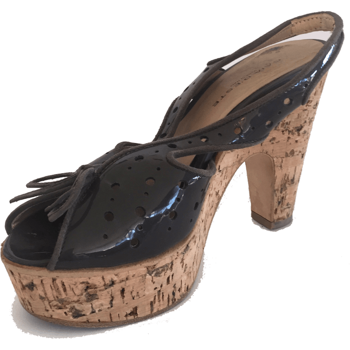 Cork Wedge Heel Sandal By Gaia D'Este - Shoe Bank