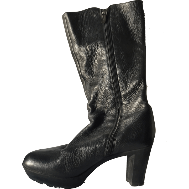 Black Soft Leather Boot - Shoe Bank
