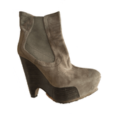 Pura Lopez Suede Wedge Boot - Shoe Bank