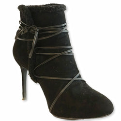 Charles & Keith Laced Stiletto Booties - Shoe Bank
