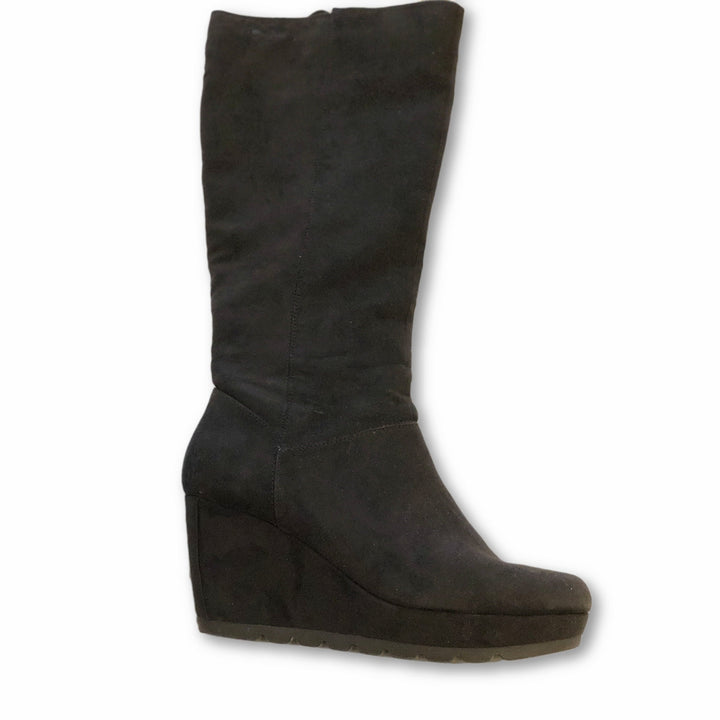 Cellini Wedge Knee Boots - Shoe Bank
