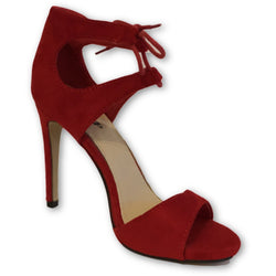 Scoop Red Suede Sandals - Shoe Bank
