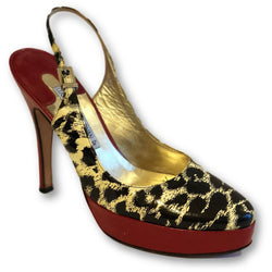 Luciano Padovan Platform Sling Back Pumps - Shoe Bank
