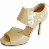 Jimmy Choo Private Patent-Leather Sandals - Shoe Bank