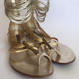 Grey Mer Gold Sandals - Shoe Bank