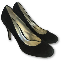 Jessica Simpson Black Suede Pumps - Shoe Bank