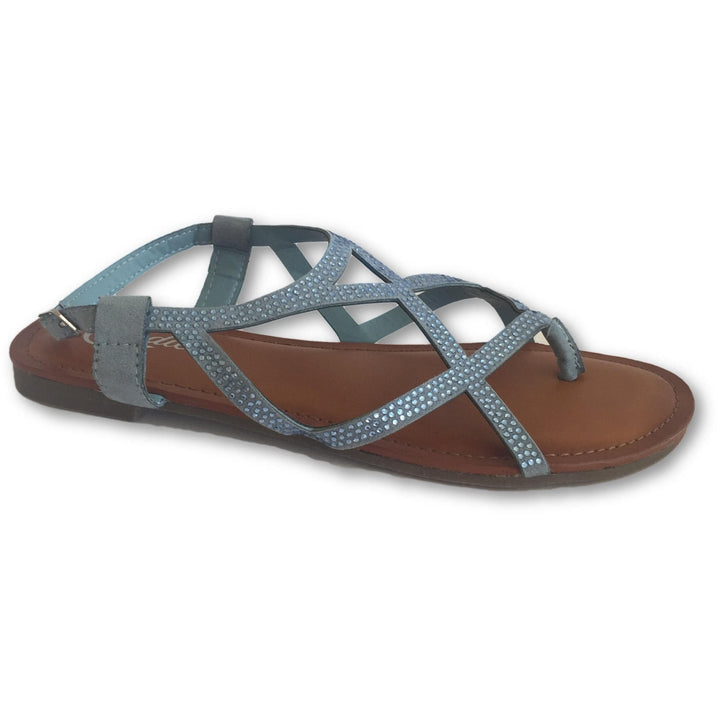 Candie's Blue Thong Sandals - Shoe Bank
