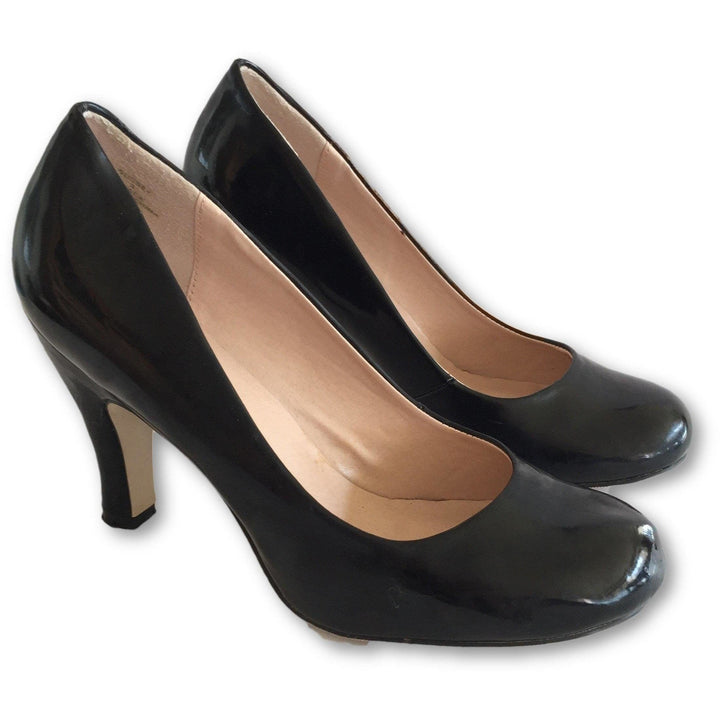 Nine West Black Patent Pumps - Shoe Bank