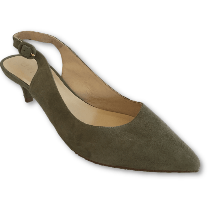 Unisa Sling Back Green Pumps - Shoe Bank