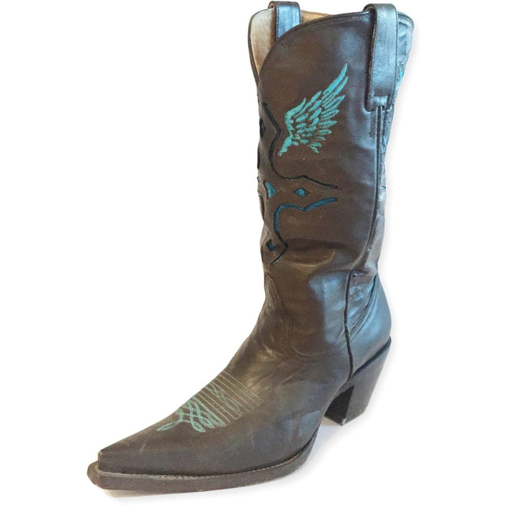 Western Embroidered Cowgirl Snip Toe Boots - Shoe Bank