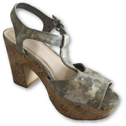 Bianco Cork Platform Sandals - Shoe Bank