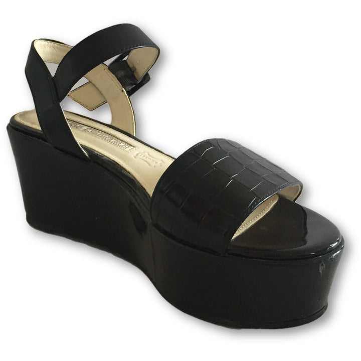 Buffalo London Black Platform Sandals - Shoe Bank