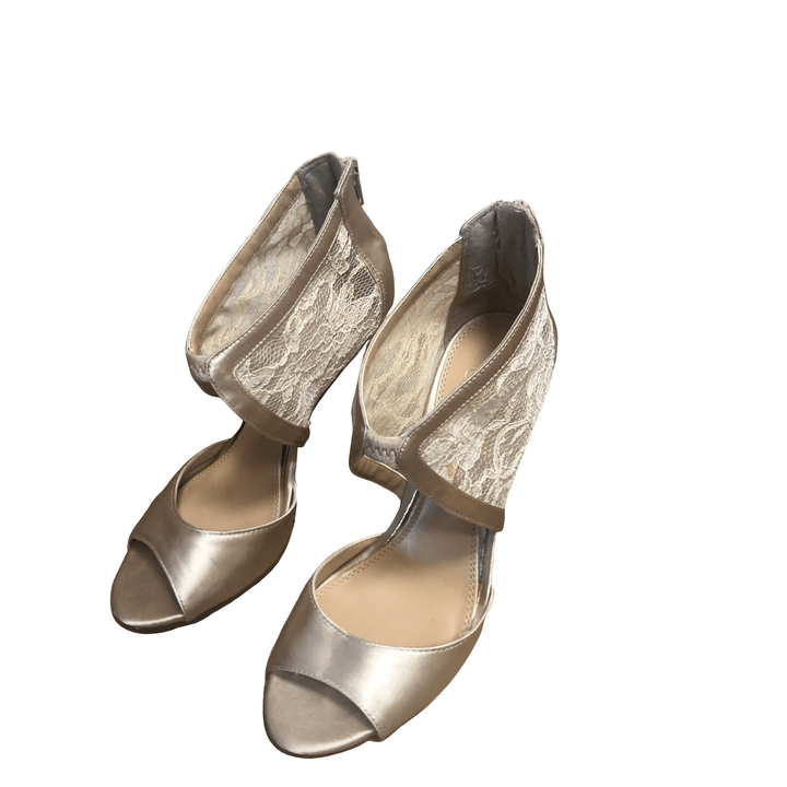 Jessica Simpson champagne gold ankle shoes