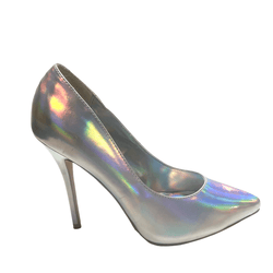 Pleaser Silver pumps