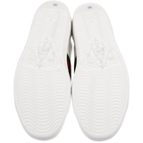 Gucci Bee white leather sneakers