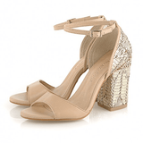 Raphaella Booz Gold Bridal Sandals - Shoe Bank
