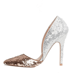 Miss KG Gorgeous Gold & Silver Sequence Pumps - Shoe Bank