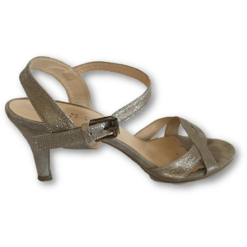 Jonak Metallic Silver Sandals - Shoe Bank