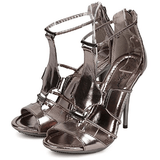 Beyond Metallic Gladiator Stilleto Sandals - Shoe Bank